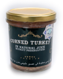 Corned turkey without preservaties